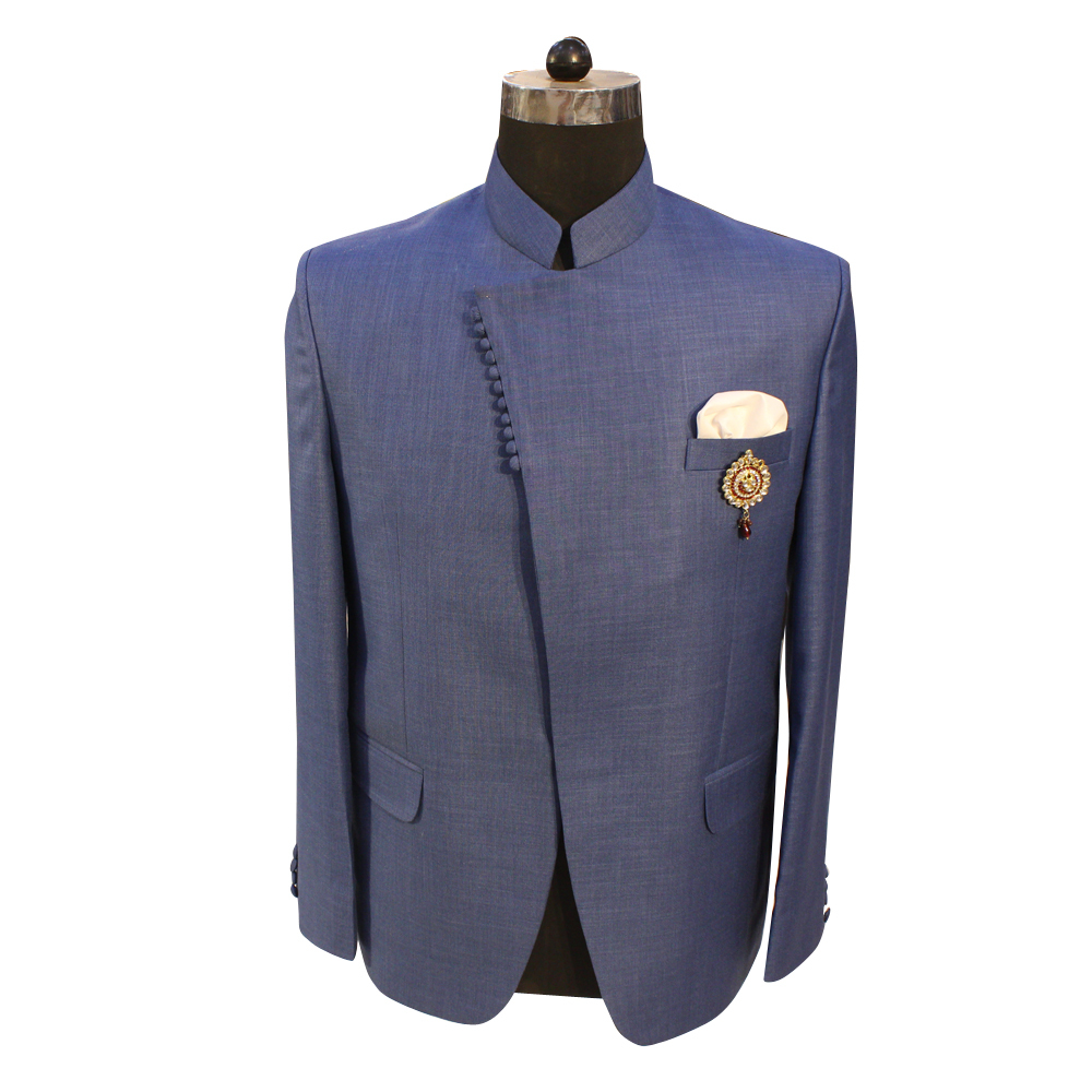 Men's Jodhpuri Blue Color Suit