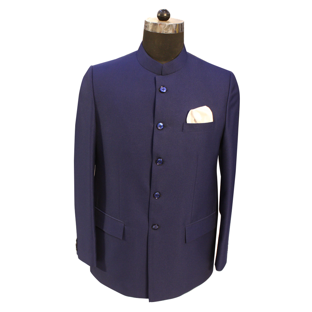 Men's Jodhpuri Navy Blue Color Suit