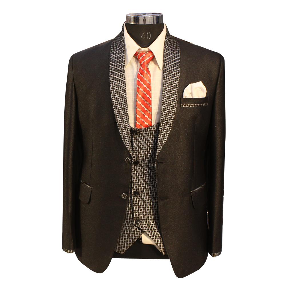Men's Black Color Party Wear Suit