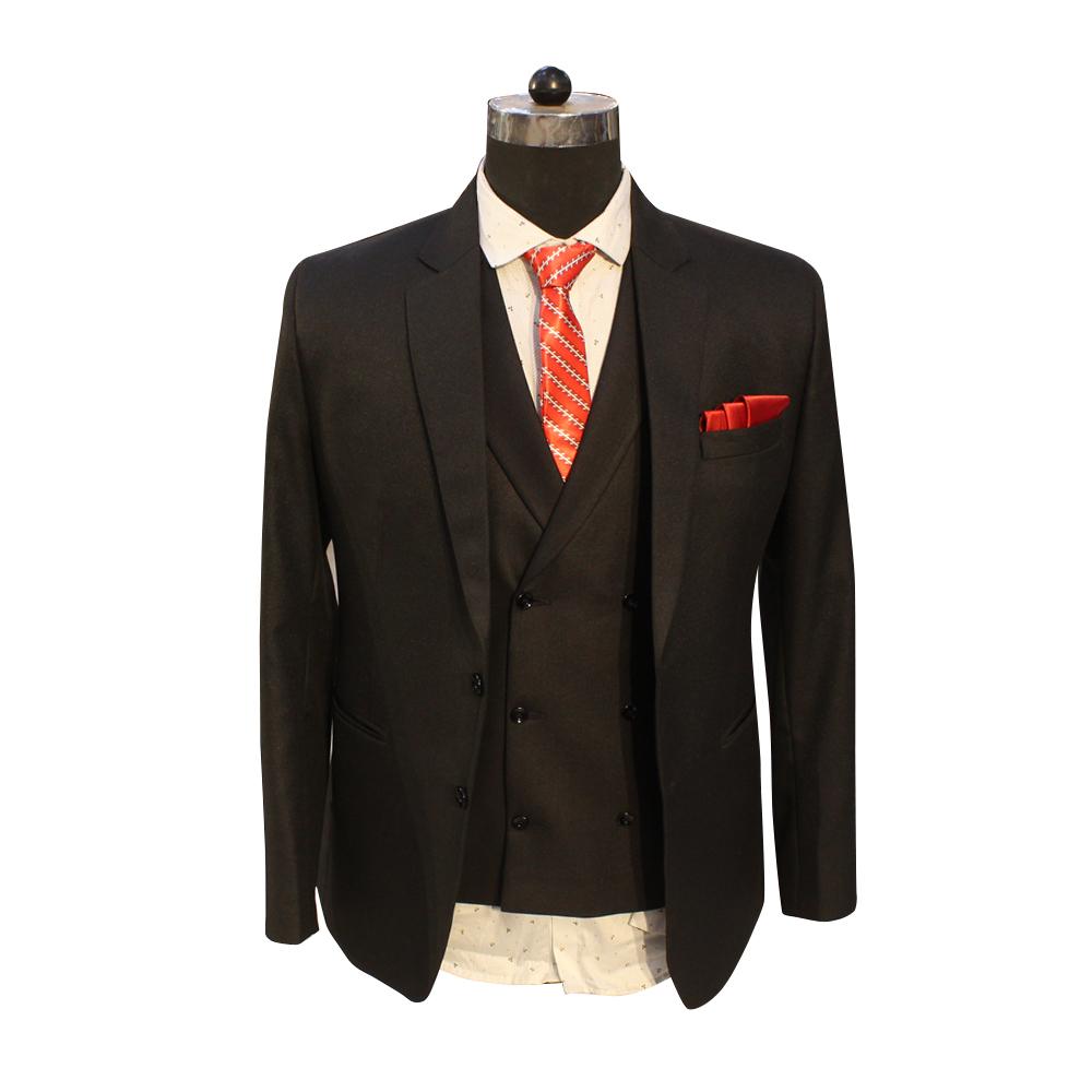 Men's Black Plain Party Wear Suits