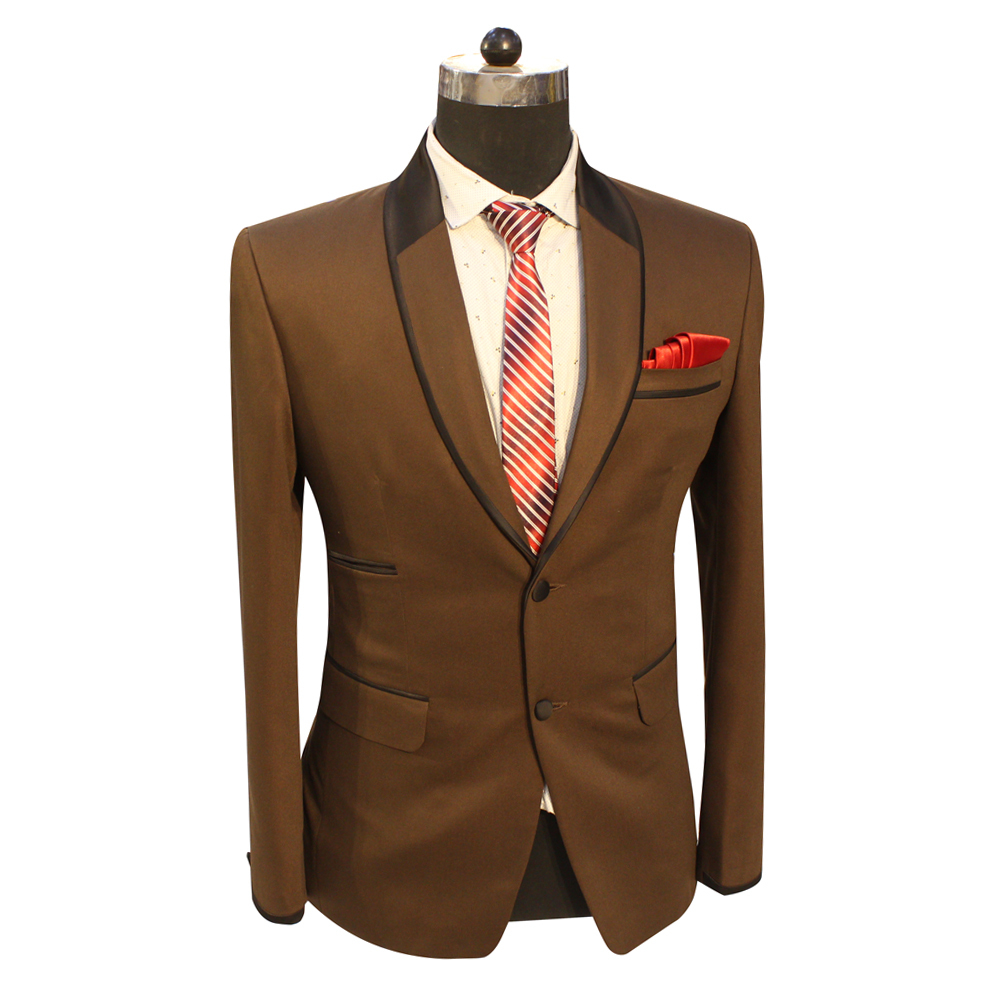 Men's Brown Party Wear Suits