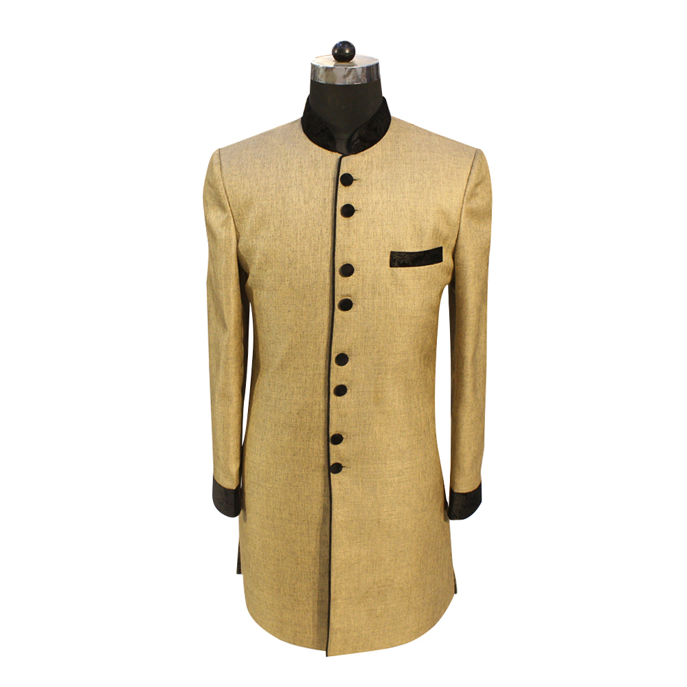 Men's Golden Color Wedding Suit