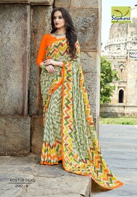 Fashionable Crepe Printed Saree