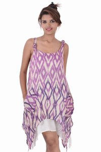 Cotton Gypsy Dress Two Pockets Point Dresses