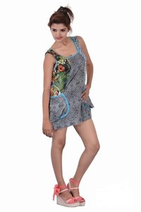 Cotton Women Casual Wear Two Pockets Dresses