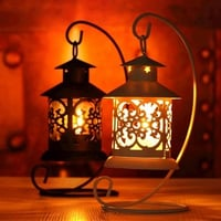 Vintage Moroccan Candle Lantern With Scented Candles