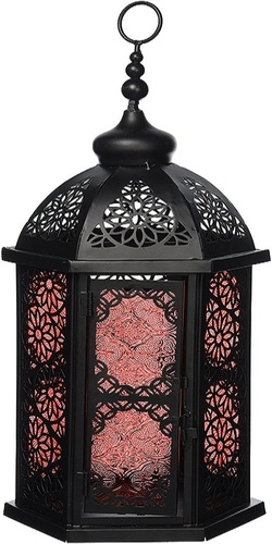 Koehler Outdoor Home Garden Decorative Paprika Moroccan Hanging Candle Lantern