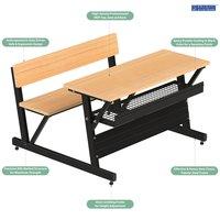 Tubular Steel Classroom Study Dual Desk DDP-0405
