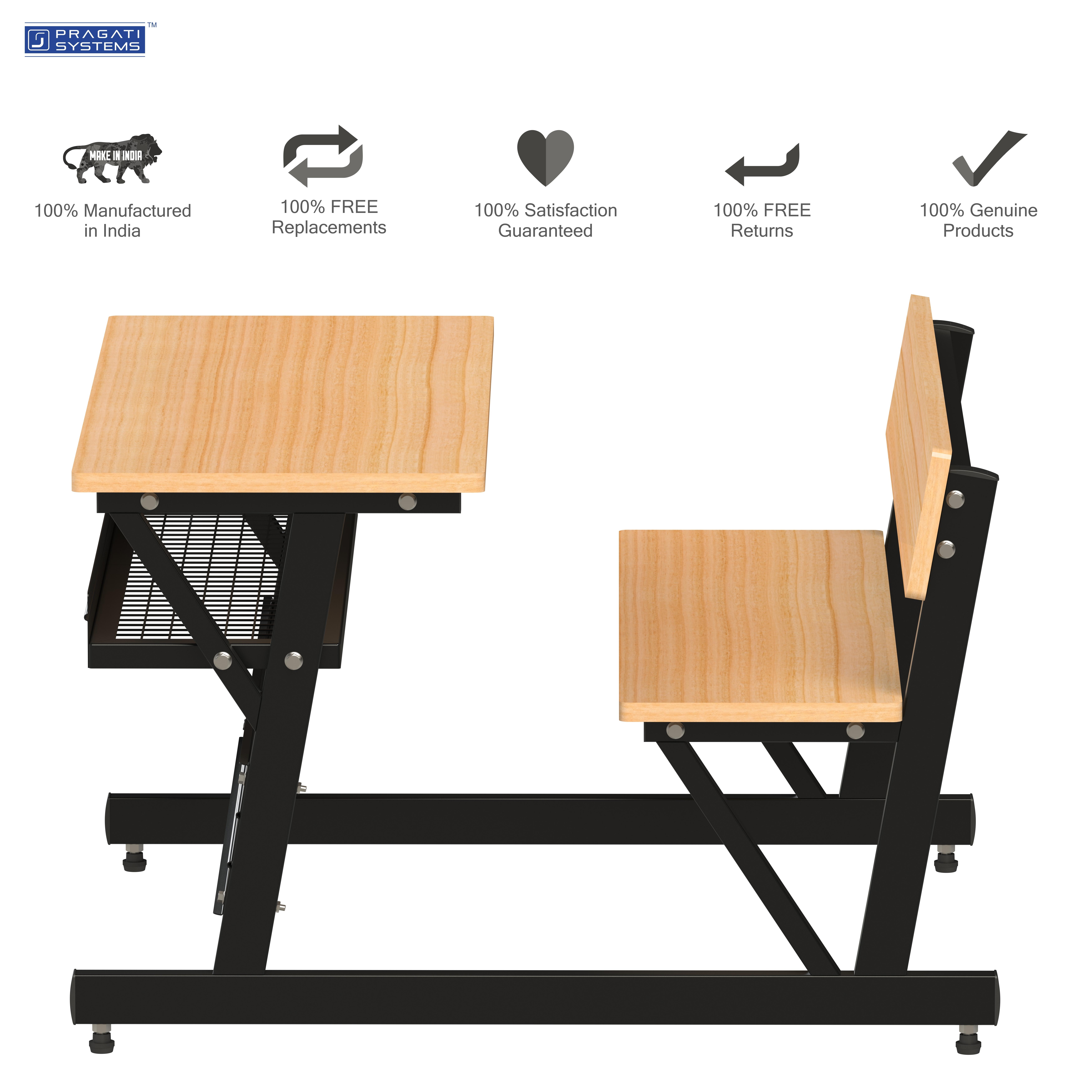 Tubular Steel Classroom Study Dual Desk DDP-1112