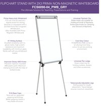 Flipchart Easel Stand with 2x3 Prima Whiteboard