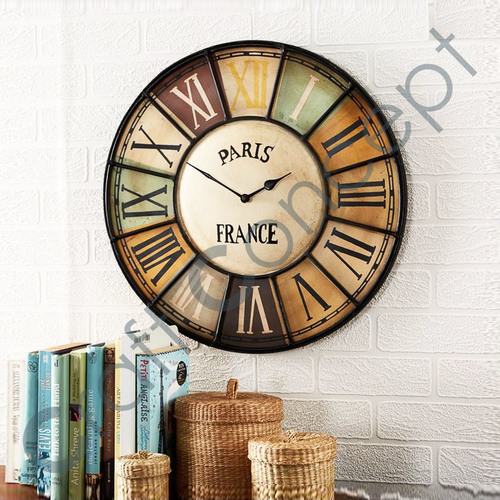 ROMAN PAINTED WALL CLOCK