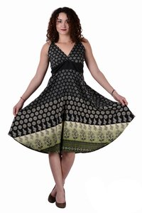 Cotton Women Casual Fit Black Dress