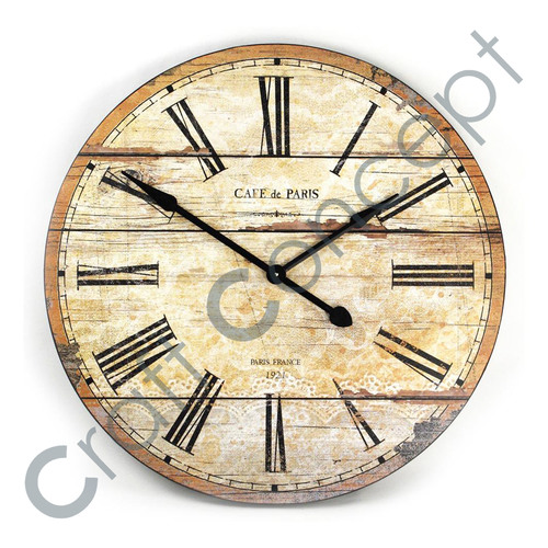 ROMAN CREAM PAINTED WALL CLOCK