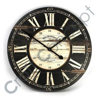 ROMAN BLACK PAINTED WALL CLOCK