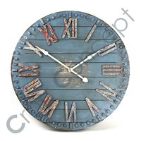 ROMAN BLUE PAINTED WALL CLOCK