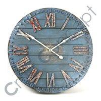 ROMAN BLUE PAINTED WALL CLOCK