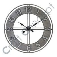 METAL EMBOSSED WALL CLOCK
