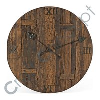 ROMAN WOODEN DIAL WALL CLOCK