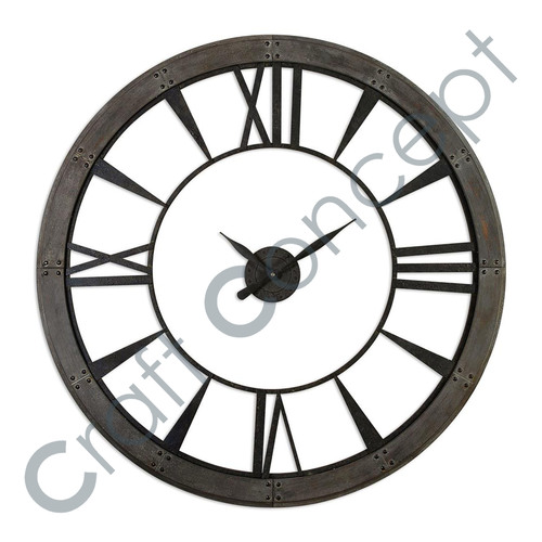 ROMAN METAL WALL CLOCK