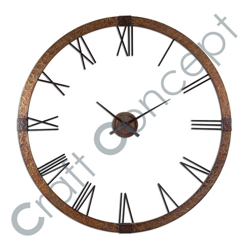 ROMAN GOLDEN  METAL WALL CLOCK