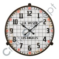 OLD LOOK METAL WALL CLOCK