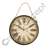 OLD LOOK METAL HANGING CLOCK