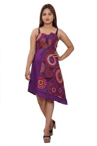 Cotton Women A line Purple Dress
