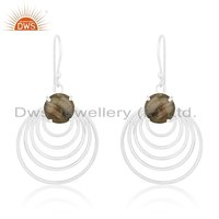 Labradorite Gemstone 925 Silver Earrings