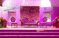 Flower Decorated Leather Panel Stage