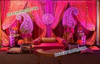 Paisley Decoration Mehandi Sangeet Stage