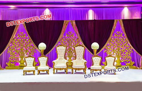 Designer Wedding Bride Groom Chairs Set