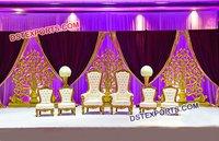 Designer Wedding Bride Groom Chairs Set