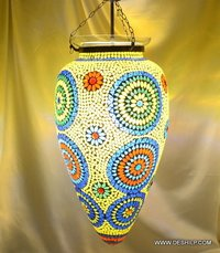 HANGING MOSAIC MIDDLE HANGING,DECORATIVE RESIDENTIAL HANGING,GLASS HANGING