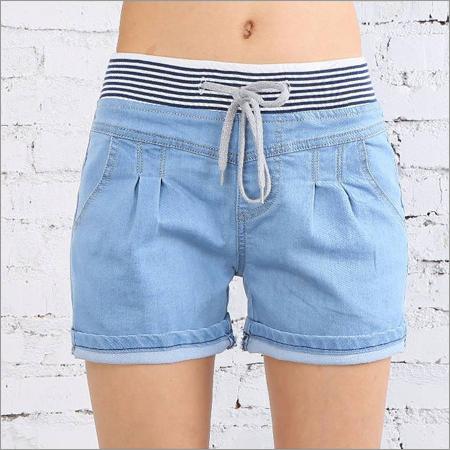 Ladies Fancy Denim Shorts