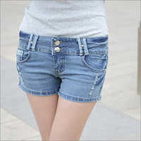 Ladies Denim Casual Shorts