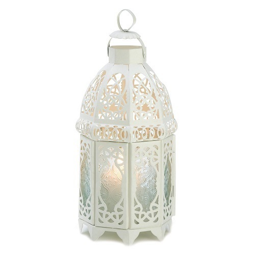 10 White Lattice Lantern Wedding Centerpieces
