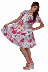 Tie Dye dress Cotton Printed Red Color Dresses
