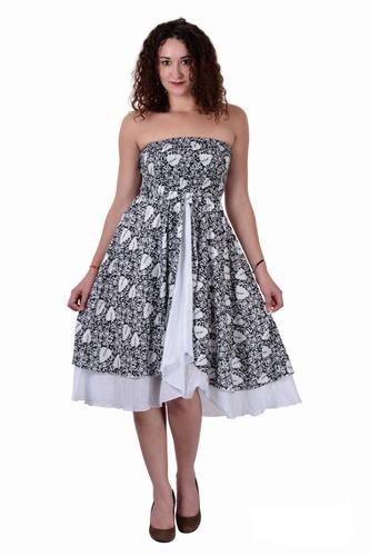 Cotton Printed Black Color Dress
