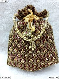 Beaded Ethnic Potli