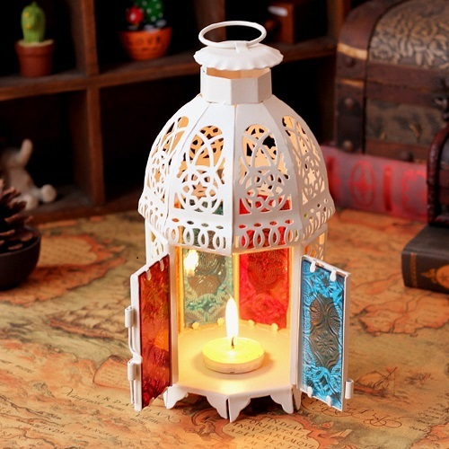 KUNGYO Small Table/Hanging Moroccan Candle Lanter