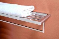 Brass Towel Shelf With Towel Bar