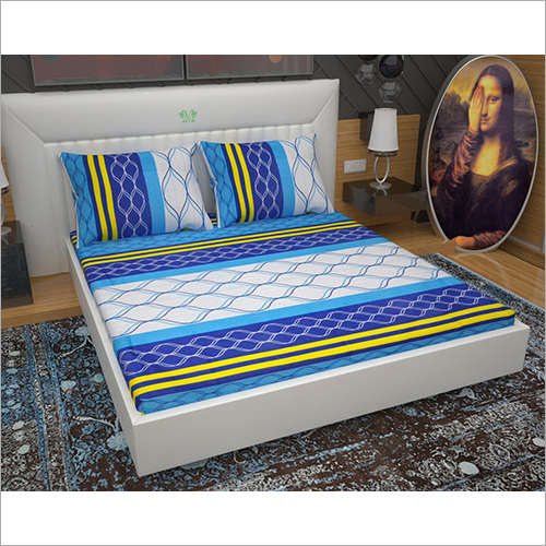 Cotton Fitted Double Bed Sheet