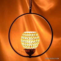 Hanging Glass Handmade Light Crystal Clear U Light Fixture Hanging Glass Lamp Designe