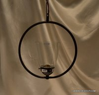 Banded Brass Water Glass Cone Pendant Hanging Glass Handmade Light Fixture