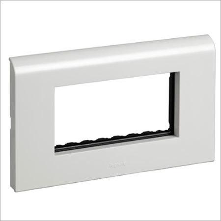 4 Module White Plastic Plate Frame