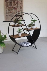 Industrial Round Book Shelf