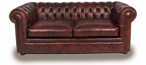 Brown sofa chesterfield 2 seater