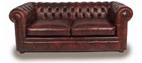 Brown sofa chesterfield 2 seater sofa