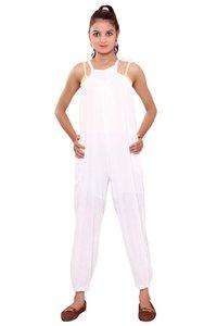 Jumpsuits for Women Jumpsuits Online Rayon Crepe Casual Wear White Color Jumpsuit