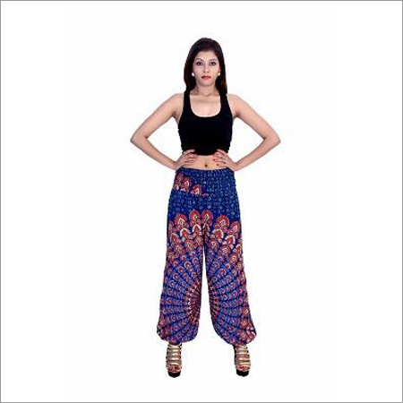 Ladies Rayon Print Pants